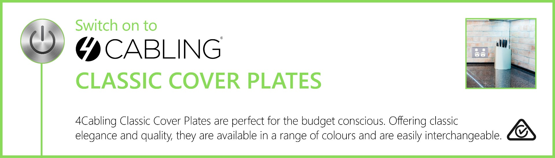 4Cabling Classic Series Cover Plates